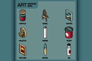 Art color icons set