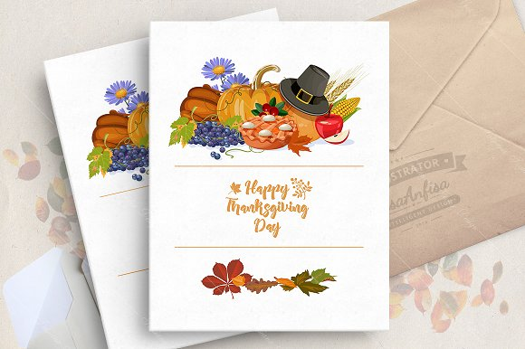 Thanksgiving Day Vector Card