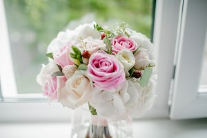 Bridal bouquet in pink