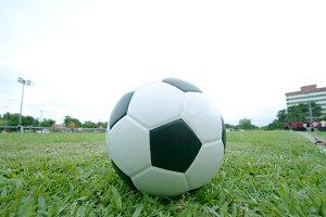 ball on grass.