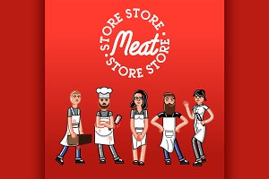 Meat store concept