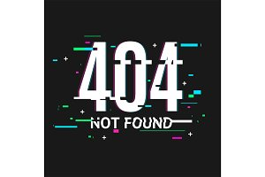 404 Not Found Concept Glitch