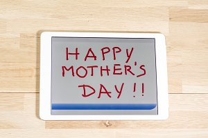 Happy Mother´s day in a tablet