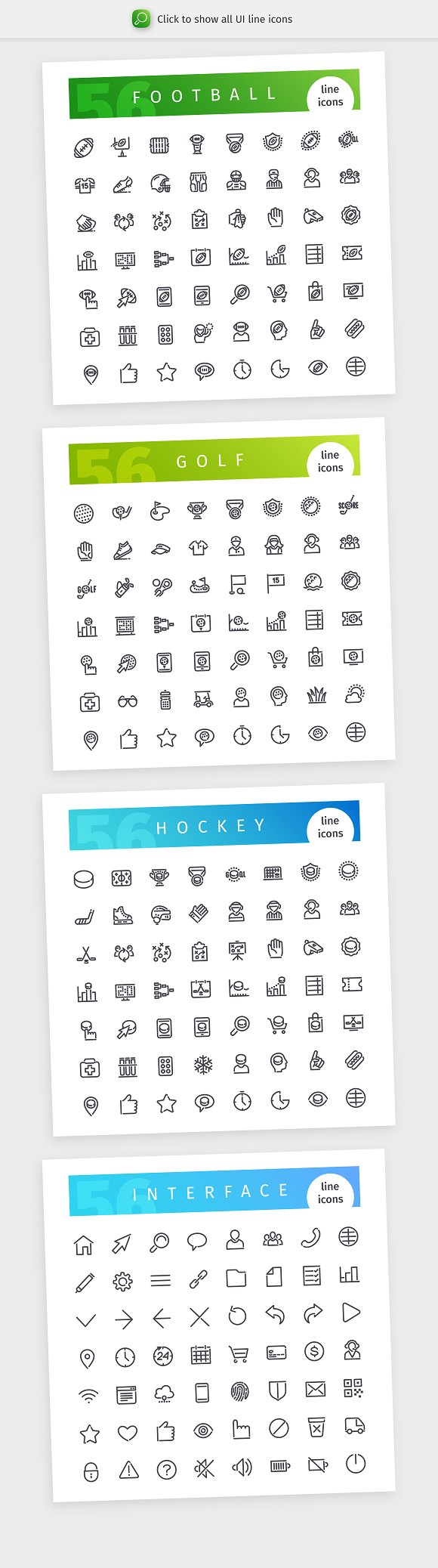 a1d25cb5 Sport 700+ Line Icons Bundle ~ Icons ~ Creative Market