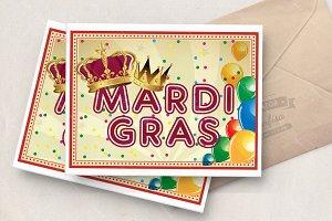 Carnival vector poster. Mardi gras.