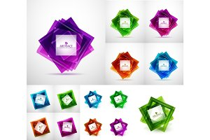 Vector square modern templates, web banners