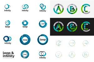 Round circle business logos