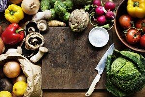 Various types of fresh vegetables