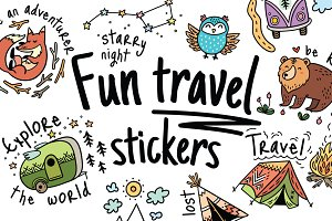 Fun travel stickers