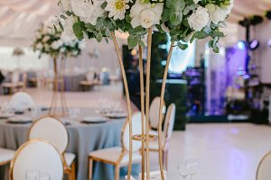 Decoration flower wedding table