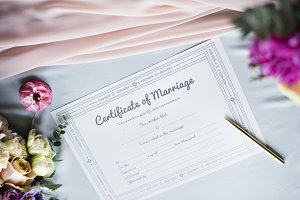 Marriage Certificate License Paper