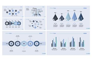 Seven Marketing Charts Slide Templates Set