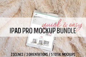 Easiest iPad Pro Mockup Bundle Ever