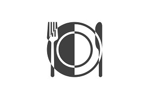 Plate and cutlery icon