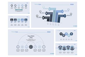 Six Banking Slide Templates Set