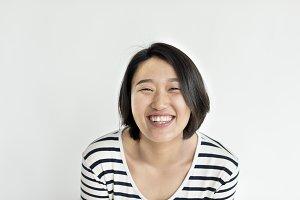 Portrait of cute Asian girl