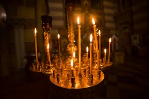 Candles int church