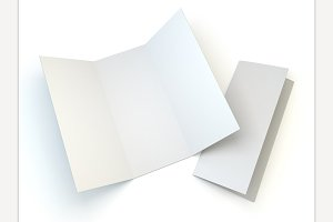 Leaflet white template paper.