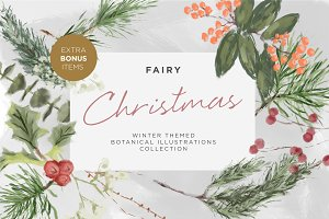 Fairy Christmas Illustration Clipart