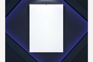 Blank design calendar template