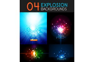 Shiny light effect explosion background