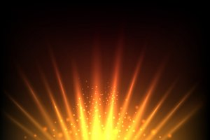 Rise sun abstract background