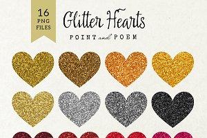 Glitter Heart Clip Arts