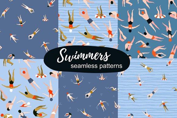 TIME to SWIM! Seamless patterns