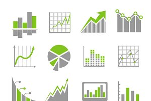 Financial business analytics icons