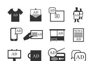 Advertisment media icons