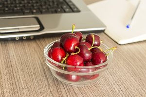 Healthy snack in the office