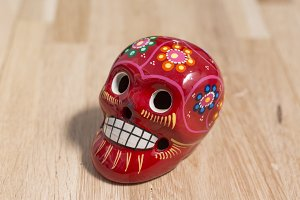 Craft skull for Day of the Dead