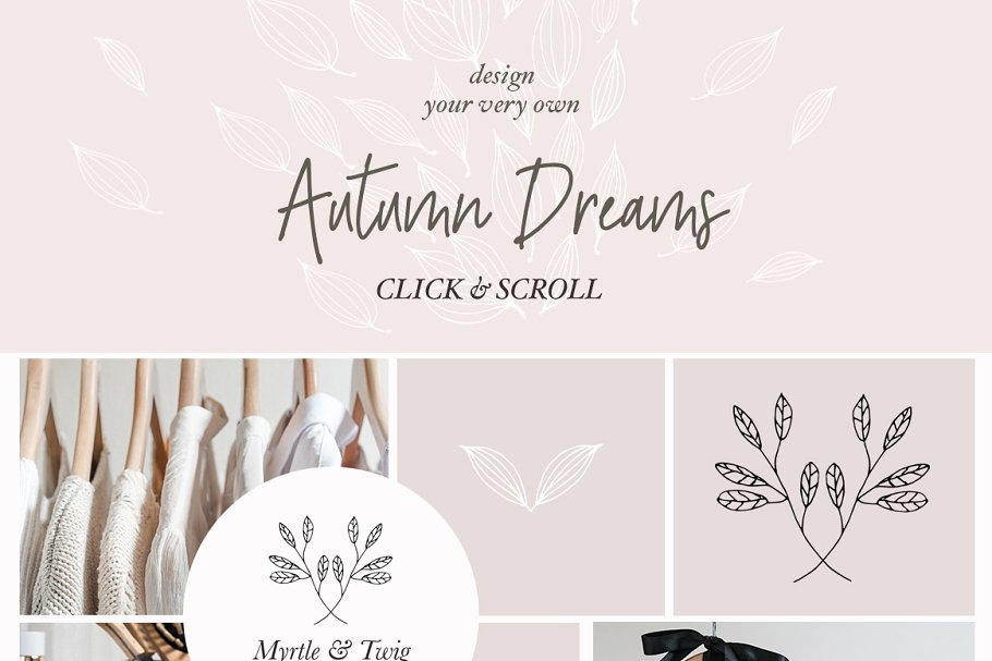 Rustic Floral Patterns Graphics