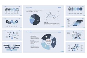 Ten Finance Slide Templates Set