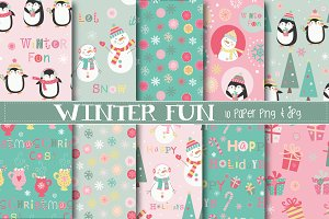 Winter fun paper
