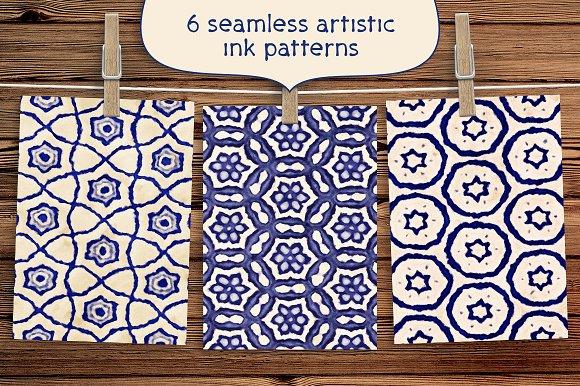 6 Artistic Ink Floral Patterns