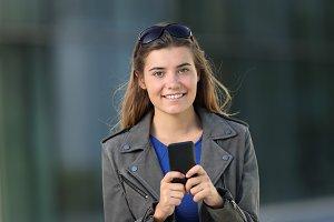 Fashion girl using a smart phone