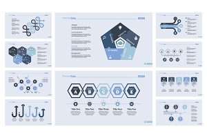 Ten Teamwork Slide Templates Set