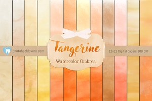 Orange Watercolor ombre textures