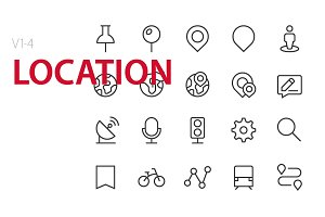80 Location UI icons
