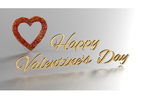 Happy Valentineˆ's Day - 3D Render