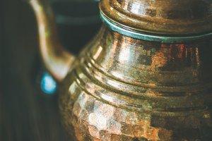 Middle Eastern tea pot and black tea
