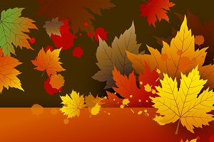 Vector autumn background design
