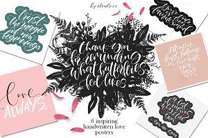 6 Love Inspiring Lettering Phrases.