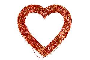 Red Heart Made of Fibre