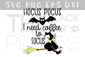 Hocus pocus SVG DXF PNG EPS