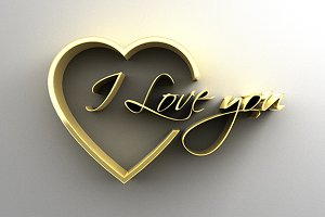I Love You - Gold