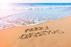 Merry Christmas on the beach