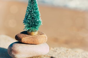 Zen Christmas on the beach