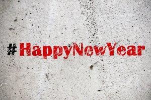 Hashtag Happy New Year